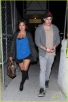 """**EXCLUSIVE** """"Glee"""" star Jenna Ushkowitz and """"Vampire Diaries"""" star Michael Trevino try to look like they're not together as they leave a bar in Hollywood!"""